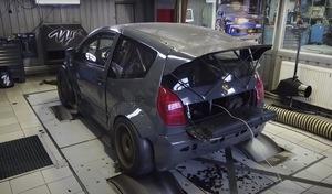Il construit une Citroën C2 de plus de 300 chevaux