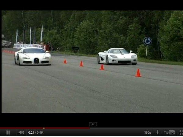 [vidéo] Bugatti Veyron vs Koenigsegg CCXR, la dragrace de titans