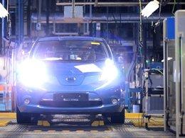 La Nissan LEAF électrique actuellement produite au Japon