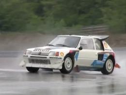 Vidéo : 205 Turbo 16 (en glisse) sur circuit