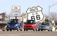 Smart fortwo mhd, Smart fortwo cdi et Mercedes E 320 BLUETEC : un voyage-test vert de Los Angeles à Detroit !