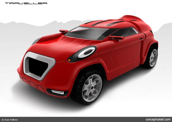 Design : Porsche Traveller Concept : le Cayenne de Mickey ?