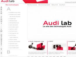 Gros plan sur Audi lab : le site Internet dédié aux technologies du constructeur allemand