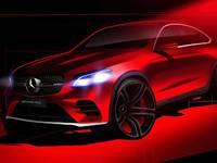 Salon de New York 2016 : le Mercedes GLC Coupé AMG en esquisse