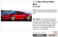 Ferrari Dino à Paris : Mattel s'en mêle
