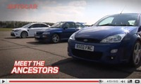 La nouvelle Ford Focus RS contre ses ancêtres Focus RS et Escort RS Cosworth [vidéo]