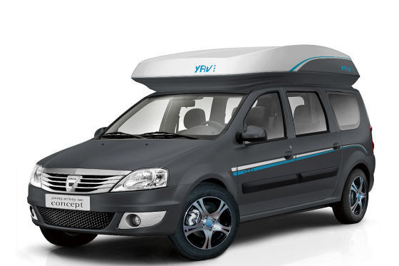 dacia young activity van iii concept en route pour le camping. Black Bedroom Furniture Sets. Home Design Ideas