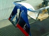 24h du Mans 2010 - Team RC30 : Les carénages sont peints