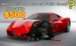 Devinez la date du premier crash de Ferrari 458 Italia et gagnez 500$