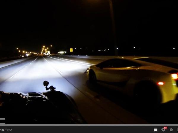 TX2K13 : une Lamborghini Gallardo UGR de 1 500 ch et une Corvette C6 LMR de 1 700 ch se retrouvent à la nuit tombée