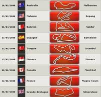 F1 : le calendrier provisoire 2010 modifié