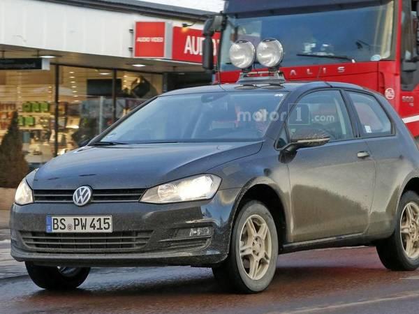 Scoop : un mulet du crossover compact Volkswagen se promène