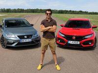 Comparatif vidéo - Les essais de Soheil Ayari - Honda Civic Type R vs Seat Leon Cupra : différence de style