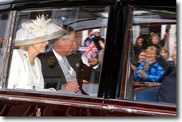 Mariage de Charles et  Camilla, même la voiture  était une seconde main !