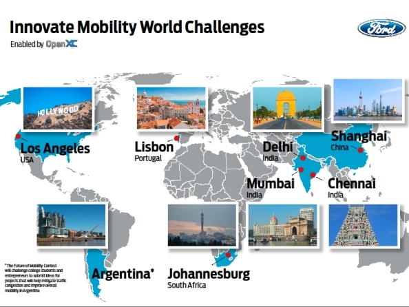 """Ford lance le concours """"Innovate Mobility Challenge Series"""""""