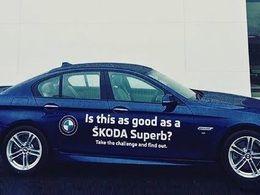 Skoda : un concessionnaire offre l'opportunitéde comparer sa Superb à une BMW Série 5