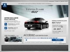 Ventes Flash Peugeot: 24 % de réduction au minimum sur les 607