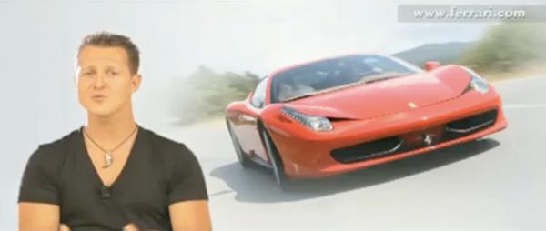"""[vidéo] Michaël Schumacher nous parle de la """"belle"""" Ferrari 458 Italia"""
