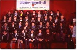 Question du jour - Réponse à la question n°3 : qui étaient les « Mousquetaires » qui ont permis à Alpine-Renault de devenir champion du monde des rallyes en 1973?
