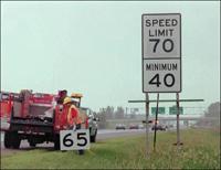 Rouler plus vite diminue le nombre d'accidents