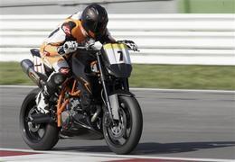 Michaël Schumacher, 4eme de sa première vraie course moto.