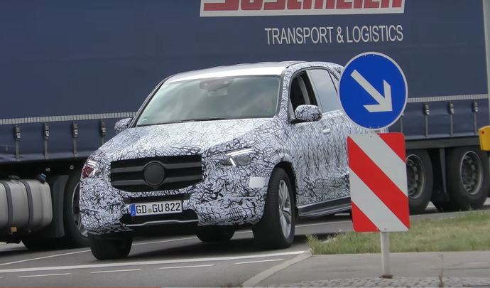 Le Mercedes GLE en version AMG Line prend l'air