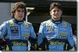 Le pilote de F1 Giancarlo Fisichella roule trop vite, même en dehors des circuits