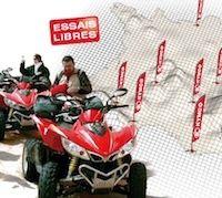 Kymco: la gamme quad 2011 en essai près de chez vous.