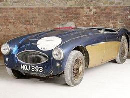 L'Austin Healey 100S impliquée dans l'accident du Mans 1955 aux enchères