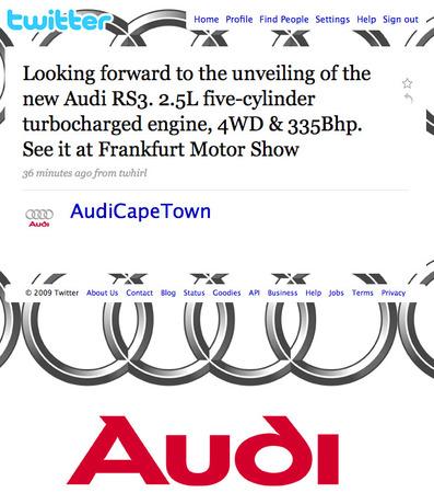 Francfort 2009 : l'Audi RS3 y sera bien