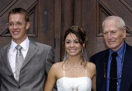 Paul Newman au mariage de l'un de ses coureurs