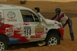 Adriana Karembeu se perd pendant un rallye