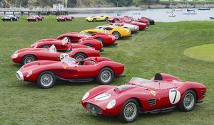 Concours d'élégance de Pebble Beach : Ferrari avec 500millions d'euros de voitures !