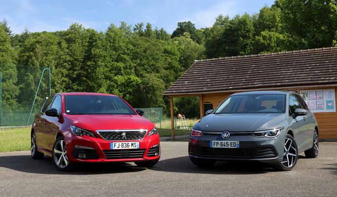 Comparatif vidéo - Peugeot 308 VS Volkswagen Golf : combat de chef