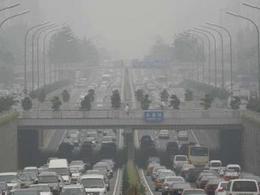 L'énorme nuage de pollution au dessus de la Chine