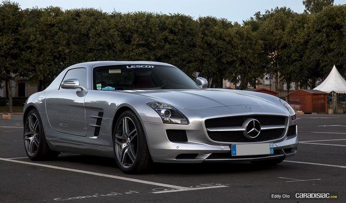 Photos du jour : Mercedes SLS AMG (Parade des Pilotes du Mans)