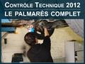 Exclusif Caradisiac : contrôle technique 2012, le palmarès complet. Où se situe votre auto ?