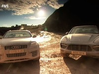5th Gear : Porsche Cayenne Turbo vs Audi Q7 V12 TDI, le choc des titans