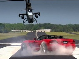 Top Gear USA : Dodge Viper SRT-10 vs hélicoptère de combat