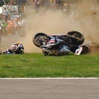 Superbike - Monza M.1: Gros dégâts physiques pour les victimes du carambolage