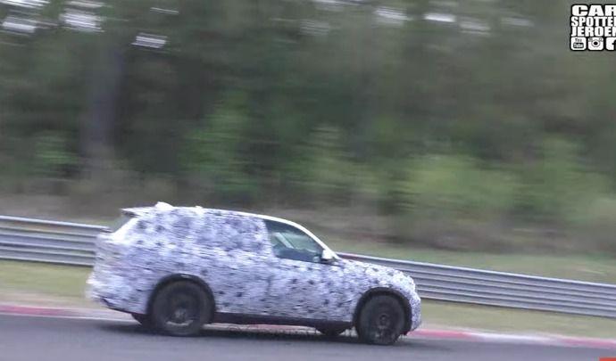Le BMW X7 surpris sur le Nürburgring