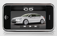 La Citroën C5 fait sa star sur l'iPhone