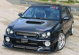 Subaru Impreza WRX Diabolik :   toute de noir vêtue