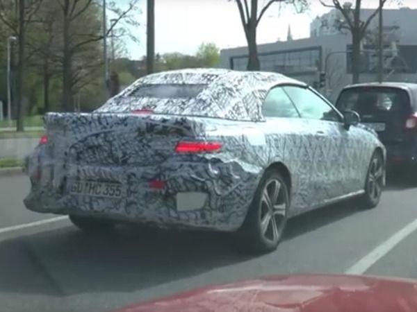 Surprise : sous le camouflage étrange, la nouvelle Mercedes Classe E cabriolet