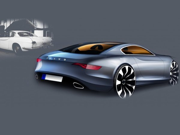 [design] Volvo P1800 50eme anniversaire : un dessin, pas un dessein