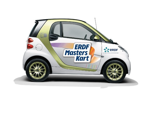 la smart fortwo electric drive pace car des erdf masters kart ce week end. Black Bedroom Furniture Sets. Home Design Ideas