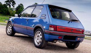 Peugeot : encore une 205 GTI vendue à prix d'or