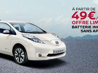 Nissan : la Leaf à 49 €/mois, batterie incluse