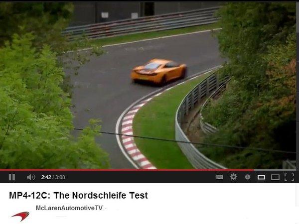 Ring Folies : la McLaren MP4-12C attaque la Nordschleife [vidéo]