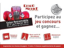 Rétromobile 2012 - Jouez et gagnez une balade en amphibie sur la Seine!